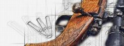 Faites photographier vos armes – Photographier mes armes et en faire une oeuvre d'art style blueprint – Photos de mes armes